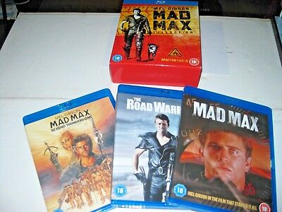 MAD MAX Trilog:y Complete Movie Blu-ray Collection Boxset  Part 1 2 3 ]Fast Ship