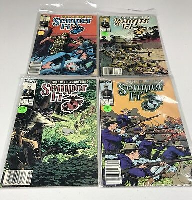 Lot Of 4 Tales Of The Marine Corps - Seller Fi' Comic Books, Marvel 1998 #'s 4-7