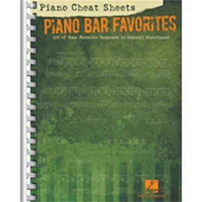 Keyboard piano instruction books cds video musical hal leonard piano cheat sheets piano bar favorites fandeluxe Gallery