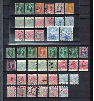 Grenada  1861-1898  46 Stamps  Different Perfor. & Wmk