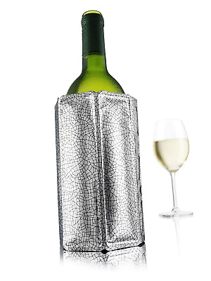 Rapid Ice Bottle Wine Cooler Chiller Sleeve, Silver - Quick Coolling by Vacu Vin