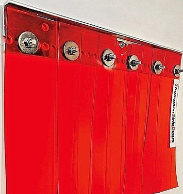PVC, GENERAL use, STRIP CURTAIN DOOR  ALL RED colour  940mm  x 2150mm 100x2 PVC