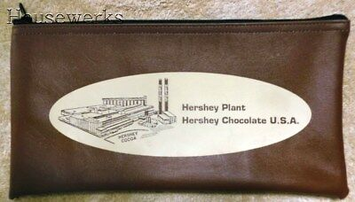 VINTAGE * HERSHEY Chocolate Factory ZIPPERED BANK CASH BAG * New NOS