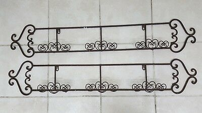 2 Plate Rack Wall Mount display holder 3 plate each Wrought Iron Dark Brown  sc 1 st  PicClick & PLATE RACK WALL Mount Display Rack Plate Holder 3 plate Wrought ...