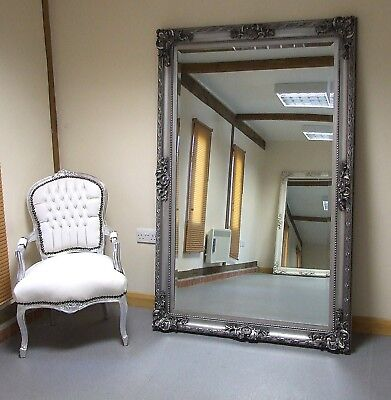 Paris Vintage Extra Large Full Length Wall Mirror Silver 3 9 X 5