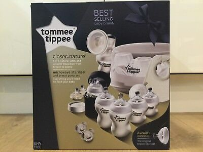 Tommee Tippee Closer to Nature Microwave Steriliser and Breast Pump Set - NEW