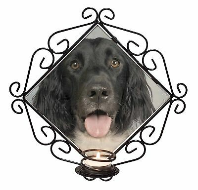 AD-RS1CH Irish Red Setter Dog Wrought Iron T-light Candle Holder Gift