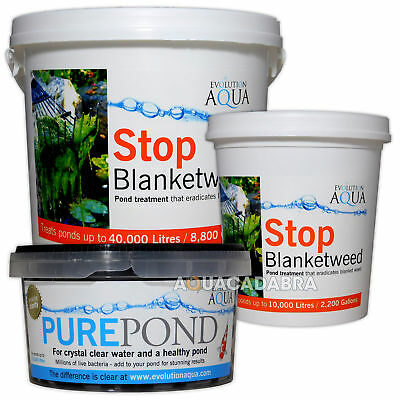 Evolution Aqua Stop Blanketweed & Pure Pond Bundle - Clear & Healthy Water Fish