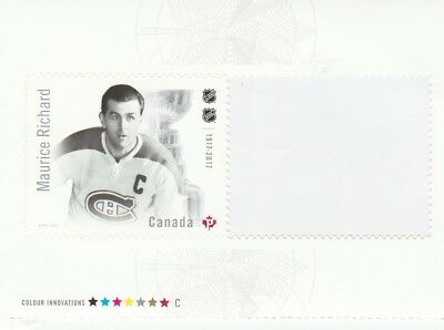 2017 Canadian Hockey Nhl - Canada Post Stamp From Booklet -  Maurice Richard