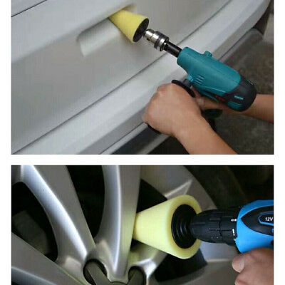 Foam Polishing Cone Shaped Buffing Pads for Wheels - Use with Power Drill