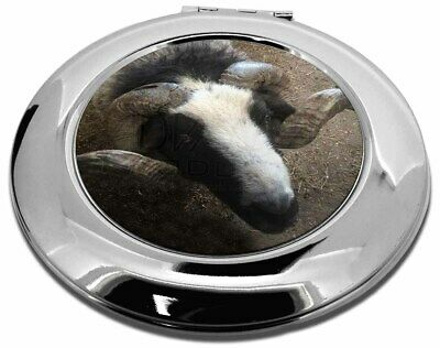 New Goat Face Make-Up Round Compact Mirror Christmas Gift, GOAT-3CMR