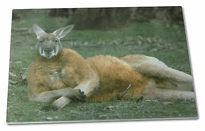 Cheeky Kangaroo Extra Large Toughened Glass Cutting, Chopping Board, AK-1GCBL
