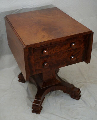 American Federal Classic Empire work stand sewing table solid mahogany c1830