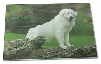 Pyrenean Mountain Dog Extra Large Toughened Glass Cutting, Chopping , AD-PM1GCBL