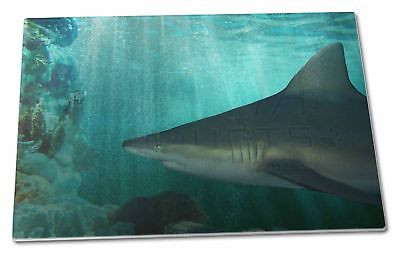 Shark Photo Extra Large Toughened Glass Cutting, Chopping Board, AF-SHA1GCBL