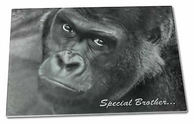 'Special Brother' Gorilla Extra Large Toughened Glass Cutting, Cho, AM-6BRO1GCBL