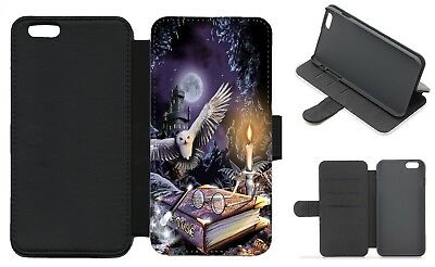 HARRY POTTER Inspired Wallet Flip Phone Case iPhone Galaxy 4 5 6 7 8 Plus X (B)