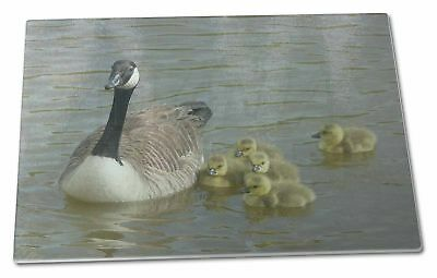 Canadian Geese and Goslings Extra Large Toughened Glass Cutting, Chop, AB-G1GCBL