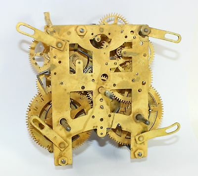 Vintage American 8-Day Time & Strike Clock Movement - Parts Or Repair Ll200