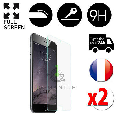 Lot 2x Vitre/Verre Trempé/Blindé iPhone 5 SE 6 7 8 Film Protection/Protege Ecran