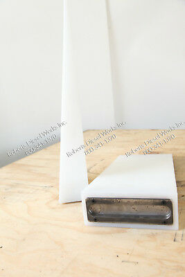 "Drywall wedge 1/8th to 2 7/8"" thick 7"" wide x 18"" long with steel back plate"