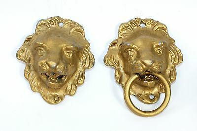 PAIR of NOS AMERICAN CLOCK CASE SIDE DECORATIONS (LIONS) - LL166