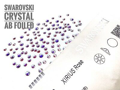 Genuine Swarovski AB Aurora Crystals Foiled Flat-Back 2088 UK