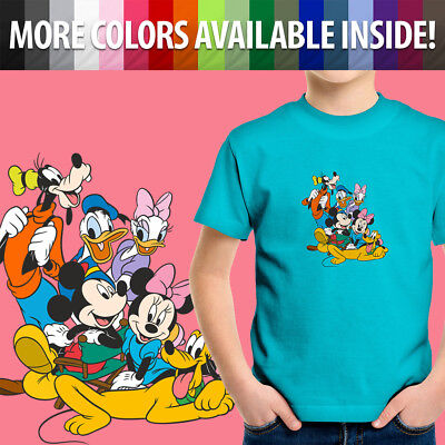 Disney Mickey Mouse Minnie Goofy Pluto Donald Duck Toddler Kid Tee Youth T-Shirt
