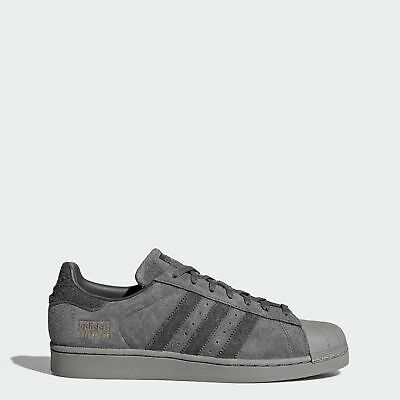 New Men's Adidas Originals Superstar Shoes [Bz0216] Grey/ Utility Black
