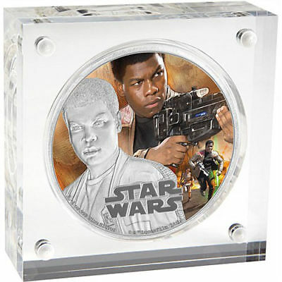 2016 Niue 1 oz Colorized Proof Silver Star Wars Force Awakens - Finn