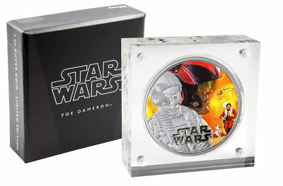 2016 Niue 1 oz Colorized Proof Silver Star Wars Force Awakens - Poe Dameron
