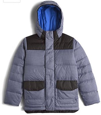 The North Face Blue Harlan 550 Fill Down Boys Parka Jacket Size L (14-16)