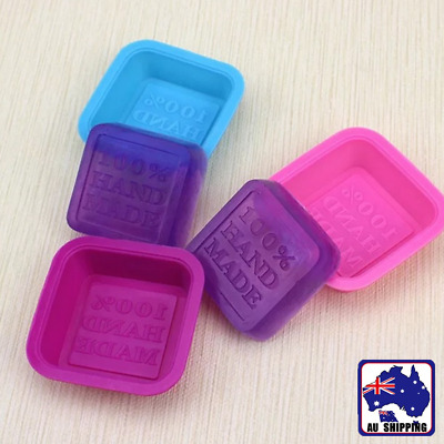5pcs 100% Hand Made Mould Silicone Soap Candle Cake Making DIY HKIM93801x5