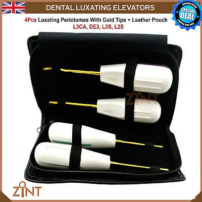 4Pcs Tooth Loosening Luxating Root Extracting Periotomes Oral Surgery Elevators
