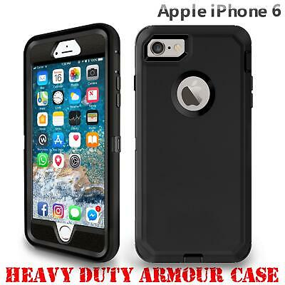 For iPhone 6 6S Tough Armour Case Hard Front Back Shockproof Heavy Duty Cover