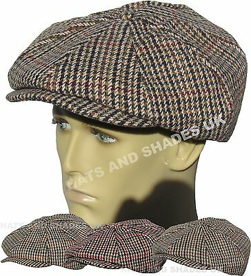 Coppola Tweed Gatsby Cappello Basse 8 Inserto Panettiere Country Donna Uomo a32e5ee29875