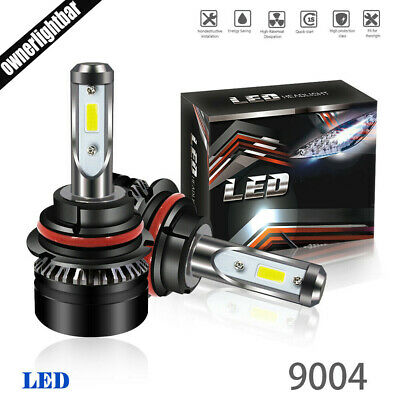 2x 9005 HB3 10000LM  LED Headlight Kit High Low Beam Bulbs CREE 6500K GMC Chevy
