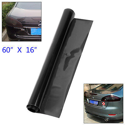 Car SUV Headlight Tint Film Taillight Fog Light Vinyl Wrap Dark Black 150 x 40cm