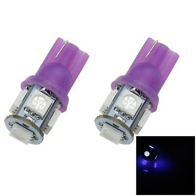 2x Ultraviolet Auto T10 W5W Interior (Map/Dome) Light 5 5050 SMD LED A007