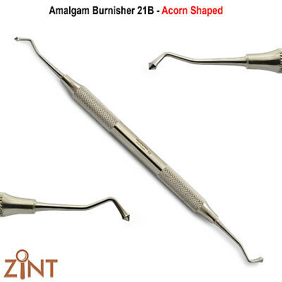 Dental Amalgam Ball Burnisher Westcott 21B Double Ended Filling Instruments New