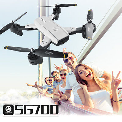 SG700 Quadcopter Drone 2.4Ghz 4CH WiFi 2.0MP Optical Flow Dual Wide Angle Camera