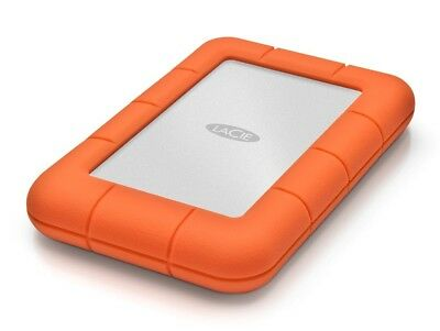 LaCie Rugged Mini, 1 TB externe 6,35 cm Festplatte, USB 3.0, silber-orange