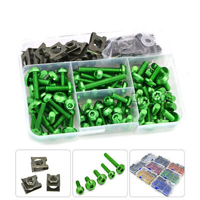 Motorcycle Fairing Bolts Clips Screws Speed Fastener Spring Nuts Kit M6 6mm M5