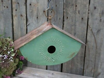 Chic Antique, Vogelhaus aus Metall, vintage green