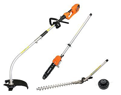 eSkde 4 in 1 Electric Multi Tool Brush Cutter Strimmer Hedge Trimmer Chainsaw