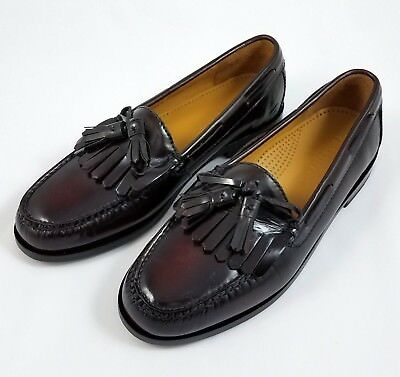 Cole Haan Men's Pinch Shawl Bow II Tassel Loafers Dress Shoes Burgundy US 8  NEW