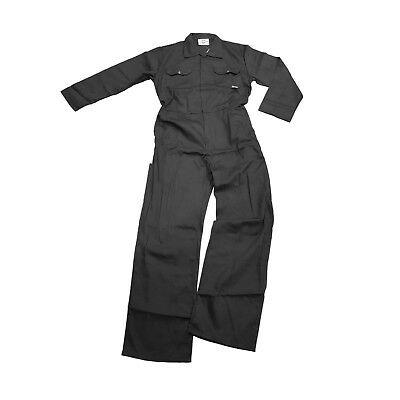 Black Cotton Overall Work Coverall Boiler Suit |S-3XL|
