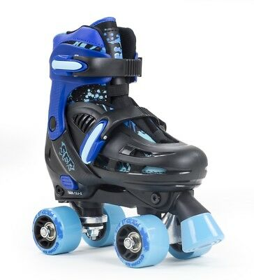 SFR Storm III Kids Adjustable Roller Skates -  Black / Blue