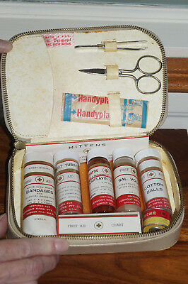 Vintage Collectable Vermont Vinyl Case Medical First Aid Kit