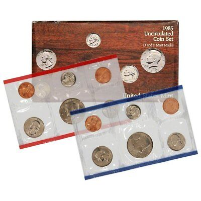 1985 United States Mint Uncirculated Coin Set in Original Government Packaging